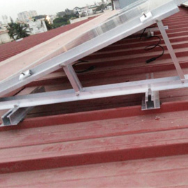 sheet roof solar module mounting structure