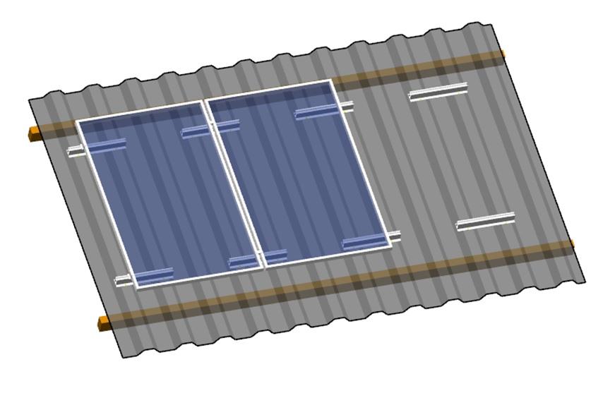 Metal Sheet Roof Solar Mounting System Chennai Metal