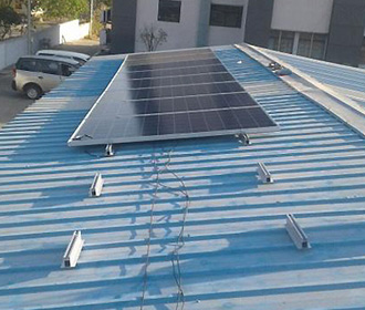 Solar metal sheet roof structure price