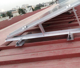 Metal sheet roof solar panel mounting structure price