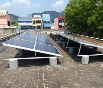 Solar Flat roof structure price